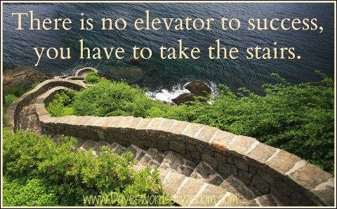 Elevator versus stairs to succes